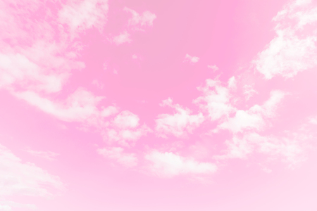 white clouds in pink sky style, colorful sky background Stock Photo