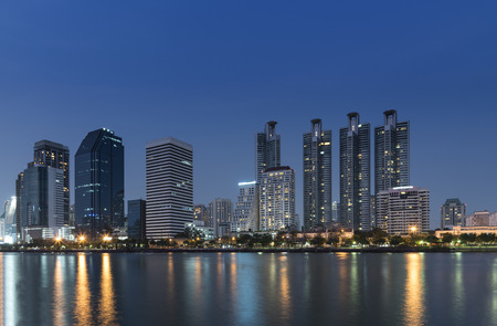 bangkok NIGHT: Cityscape bangkok night view, Thailand