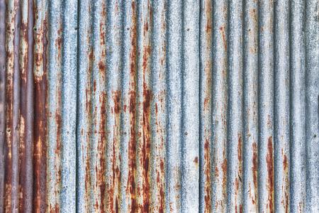old rusty galvanized, corrugated iron siding vintage texture background