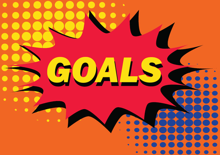 explotion: goals in pop art style inspired illustration of explotion, vector design Stock Photo