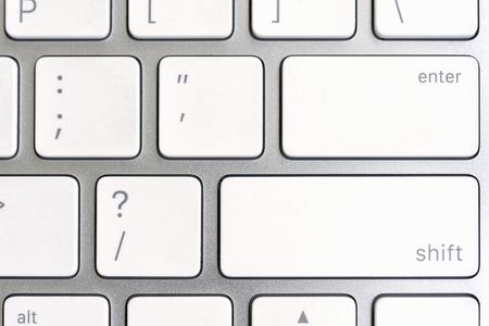 operating key: Closeup enter keys of computer keyboard Stock Photo