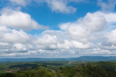 Blue sky with clouds at countryside in Thailand