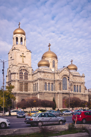 assumption: The Cathedral of the Assumption of the Virgin - one of the landmarks of Varna, Bulgaria.