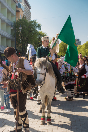 Varna, Bulgaria - April 28, 2018: Participants of the annual Varna Spring Carnival