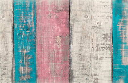 Textured colorful wooden planks, shabby chic style background. Imagens