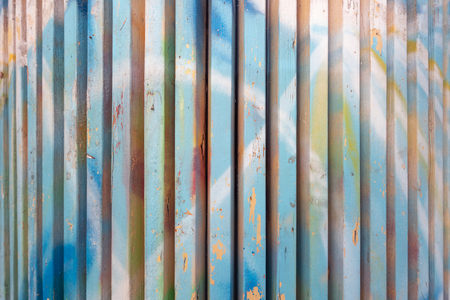 Textured colorful wooden planks, shabby chic style background. Фото со стока