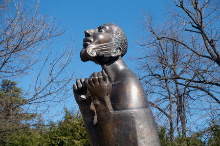 Varna, Bulgaria, March 15, 2019: Modern sculpture
