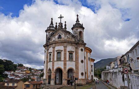 Baroque church at historic center of Ouro Preto, Brazil