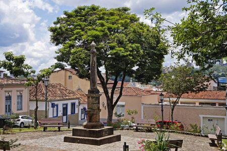 Square of the Pillory. The place where the slaves were punished in public, Sao Joao del Rei, Brazil Standard-Bild