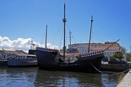 Nau Capitania, replica of caravel used by Pedro Alvares Cabral in the discovery of Brazil, Rio de Janeiro