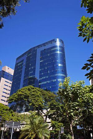 Commercial building in downtown Belo Horizonte, Minas Gerais, Brazil Фото со стока