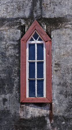 Church window in historical city of Serro, Minas Gerais, Brazil Stock fotó