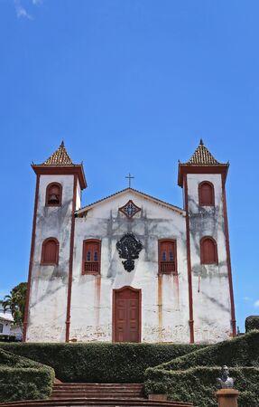 Ancient church at historical city of Serro, Minas Gerais, Brazil