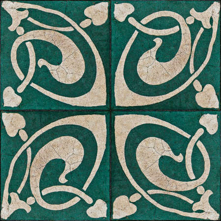 Ancient hydraulic tiles pattern background