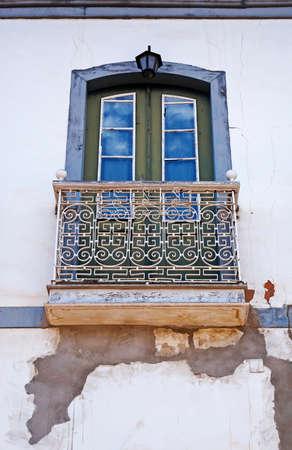 Balcony on facade in Serro, Minas Gerais, Brazil