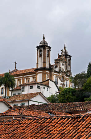 Baroque church at historical city of Ouro Preto, Brazil Banque d'images