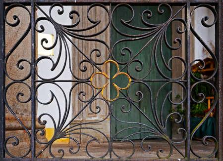 Ancient ornamental grid detail, Ouro Preto, Brazil Reklamní fotografie