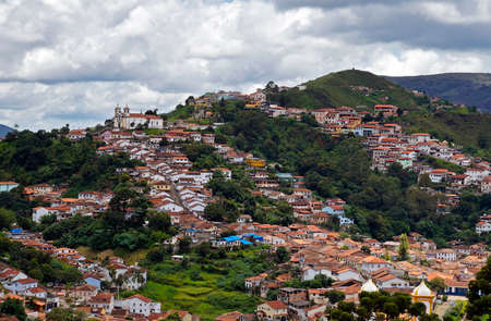 Partial view of Ouro Preto, historical city in Brazil Reklamní fotografie
