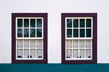Ancient colonial windows at historical city of Ouro Preto, Brazil Reklamní fotografie