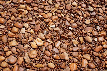Brown pebbles background, Minas Gerais, Brazil