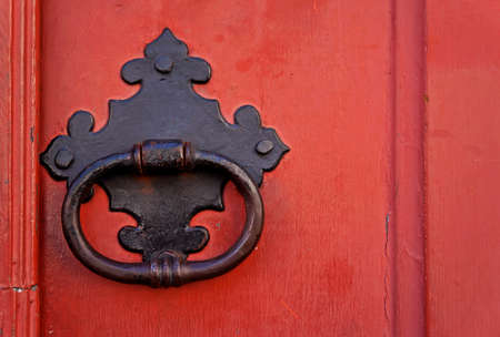 Ancient door detail, Ouro Preto, Minas Gerais, Brazil