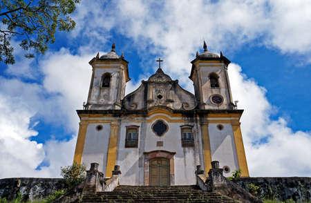 Baroque church at historical city of Ouro Preto, Minas Gerais state, Brazil