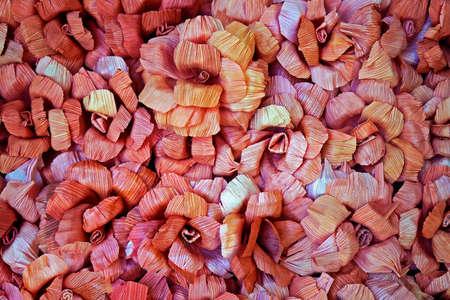 Handmade flowers made with banana straw