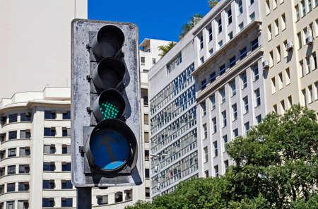 Green Traffic Light, downtown Rio