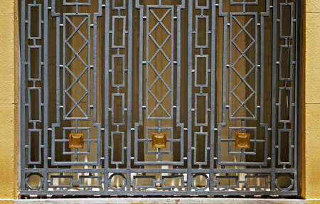 Art deco window ornamental grid (detail), Belo Horizonte, Brazil Archivio Fotografico