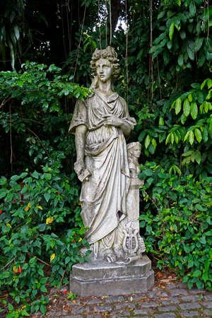 Rio de Janeiro, Brazil - December 21, 2019: Female deity statue at
