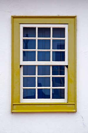 Colonial window in Tiradentes, Minas Gerais, Brazil