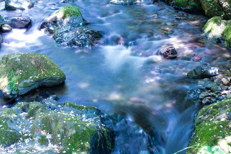 Crystalline waters gliding in the river