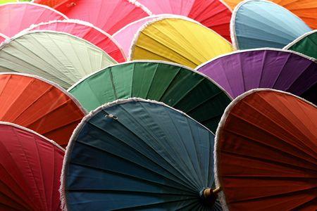 arrangment: Handmade Umbrellas