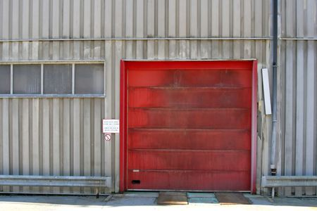 cutback: Industrial Entrance Stock Photo
