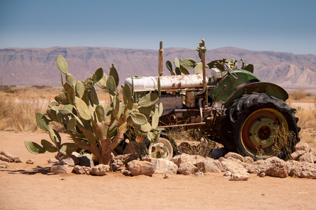 old tractor: Wreck of old Tractor in Solitaire, Namibia