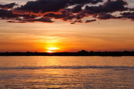botswana: Sunset over Chobe River, Botswana