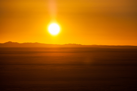 africa sunset: End of a day Safari, Sunset above desert in Africa