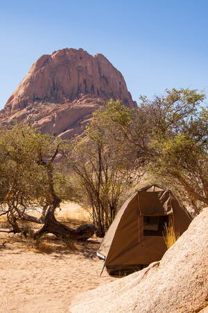 Camping in Namib Desert near Spitzkoppe