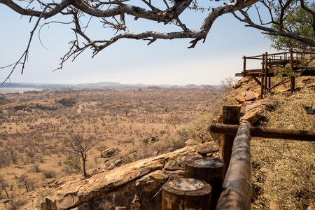 arroyo: Panorama of Desert Landscape in Mapungubwe National Park, South Africa, Africa