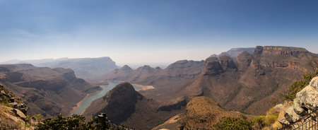 Panorama with the Three Rondavels, Blyde River Canyon, South Africa, Africa