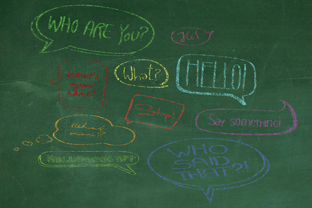 greenboard: bubbles drawn on a chalkboard