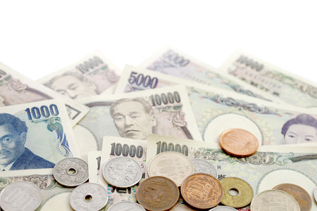 japanese yen: Japanese Yen currency bills background