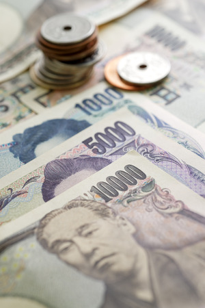 japanese yen: Japanese Yen currency bills Stock Photo
