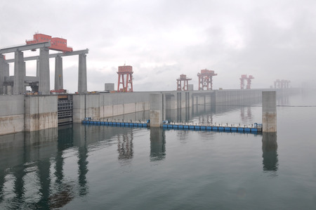 Three Gorges Dam Yichang city China Stock Photo - 27944514