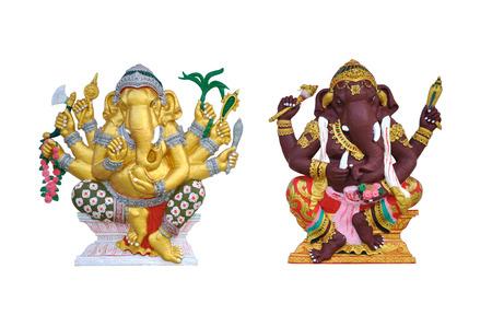 Ganesh gods on white background photo