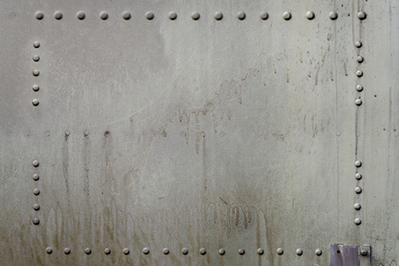 Old metal surface of riveted metal from aircraft  photo