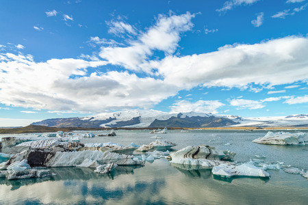Iceland Jokulsarlon glacier lagoon Imagens