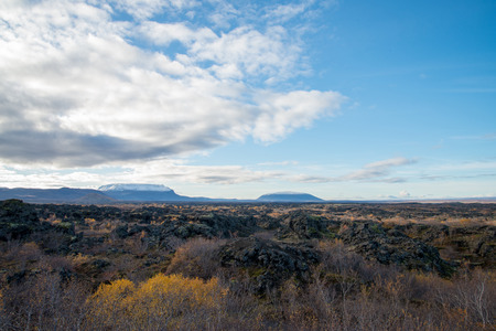 View Point at Dimmuborgir lava field, Myvatn area, Iceland