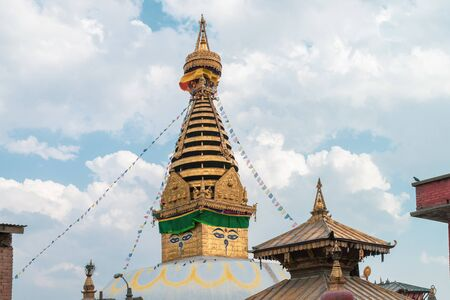 Swayambhunath Stupa the monkey templeSacred Buddhist home of some spiritual monkey, Kathmandu Nepal