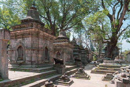 Shiva Shrine the Hindu temple. This shrine on the hill  near Gorakhnath Temple and Pashupatinath Temple in Kathmandu, Nepal